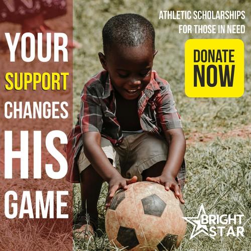 Facebook ad for non-profit organization