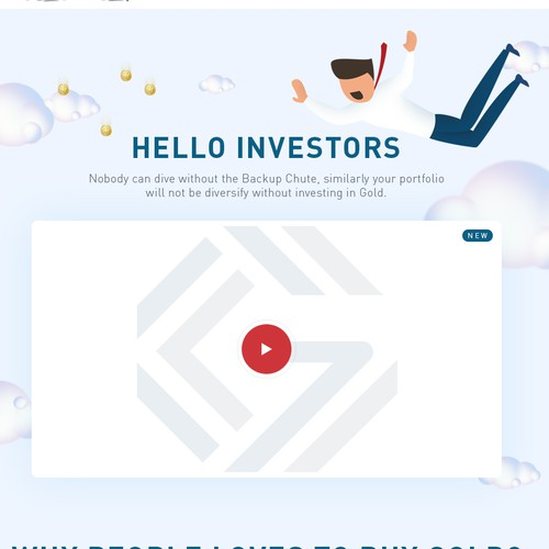 Funny Landing Page Design for Gainesville Coins