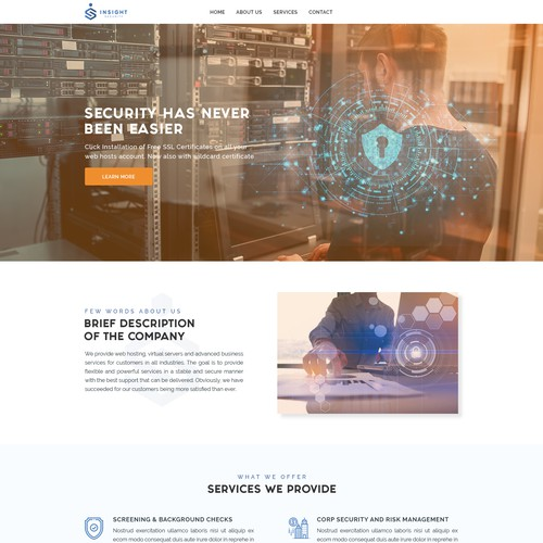 Landing page design contest entry
