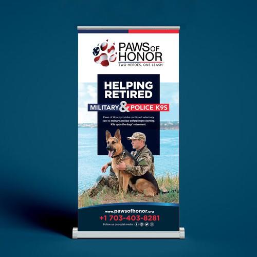 Paws Banners design for Military & Law Enforcement K9 Non-profit
