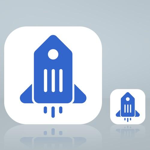 Retail Rocket app icon/ logo