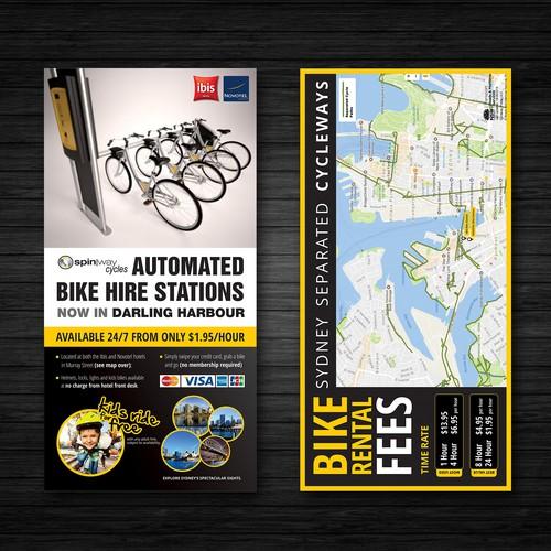 Flyer for a Bike Hiring Station