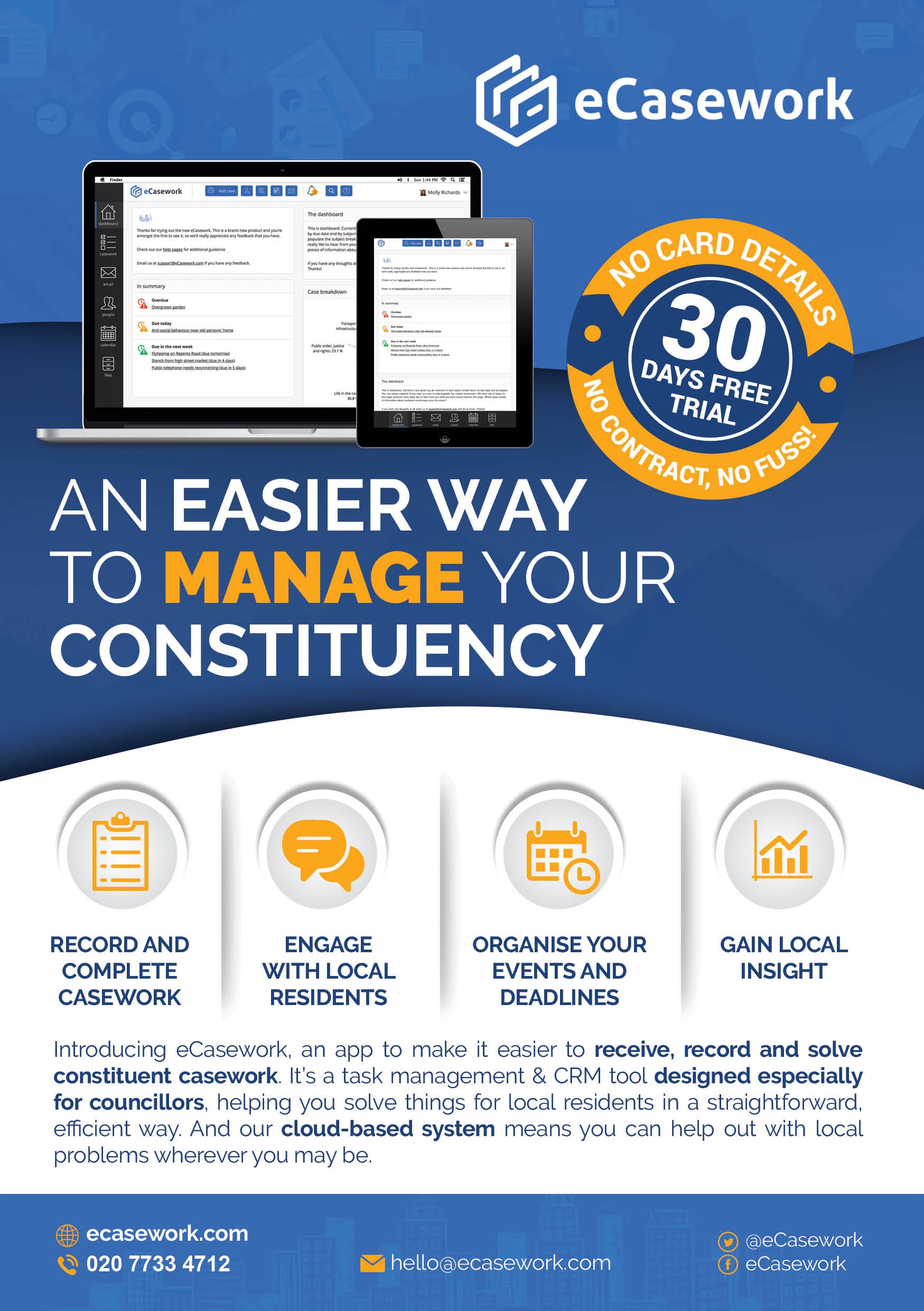Creative flyer for politician's task management app