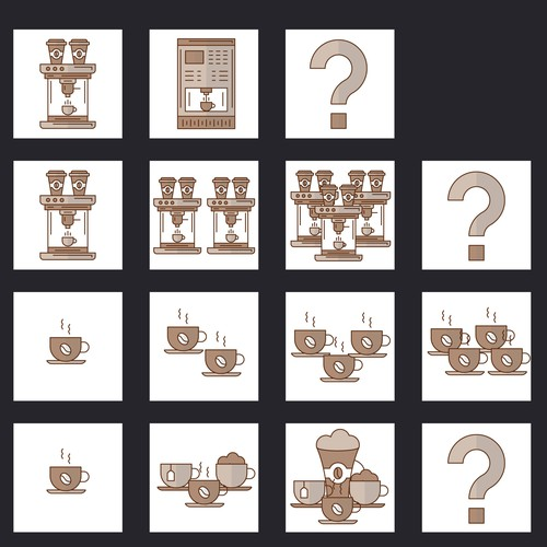 Coffee machine website Icons
