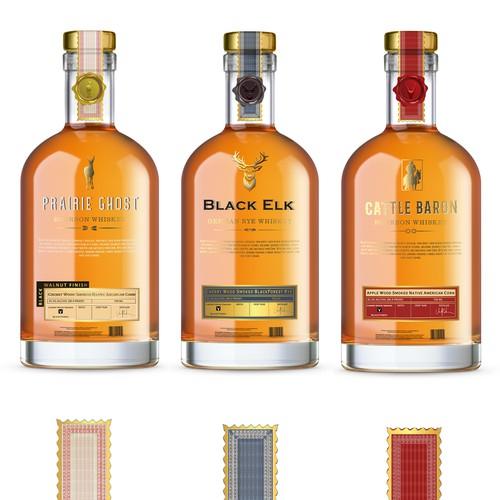 BlackFork Bourbon Bottle Label Design