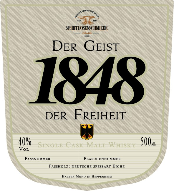 Create a German Single Cask Whisky Label and Cap