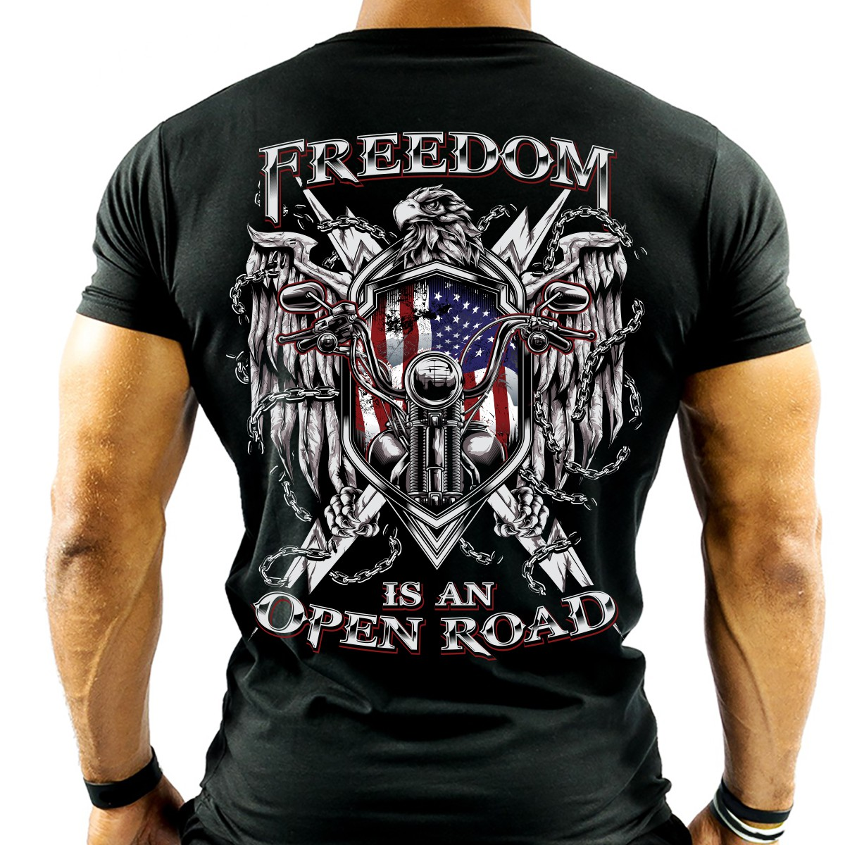 """Design An Awesome Biker T-Shirt - """"Freedom is an Open Road"""""""