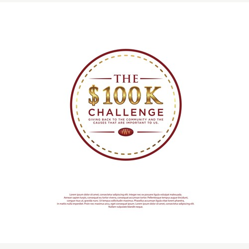 Design an upscale logo for our firm's $100K Giving Challenge