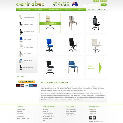 Create the next website design for Chairinabox.com.au