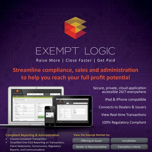 brochure design for Exempt Logic