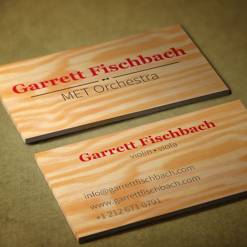 Buisness card for musician