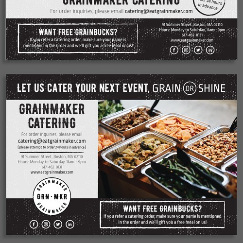 Street-Style Catering Flyer