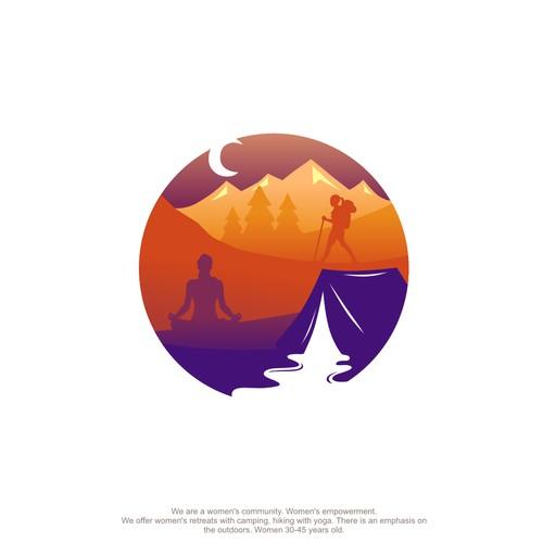 yoga and hiking logo