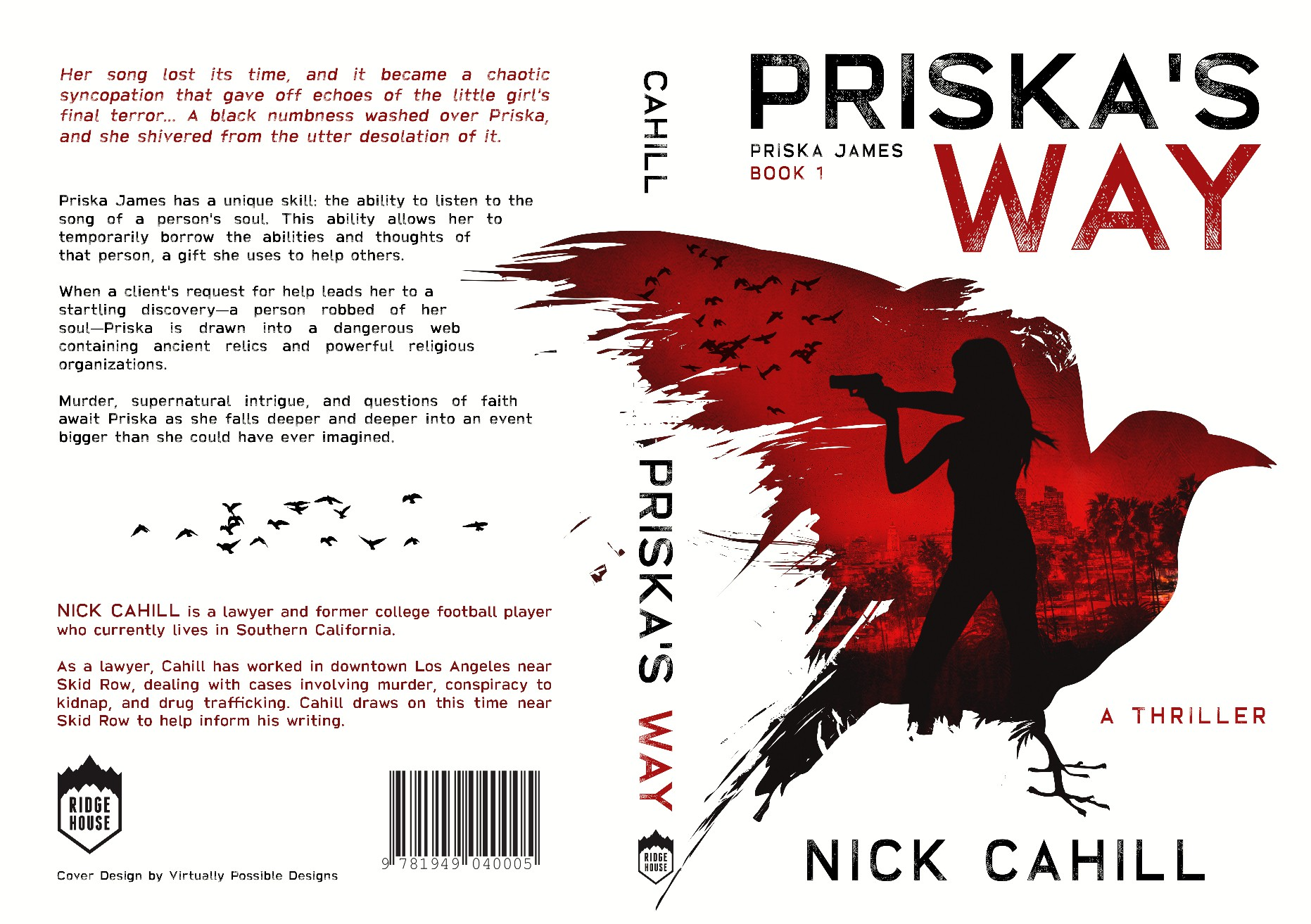 Publisher needs a powerful cover for a conspiracy thriller that has a supernatural edge.