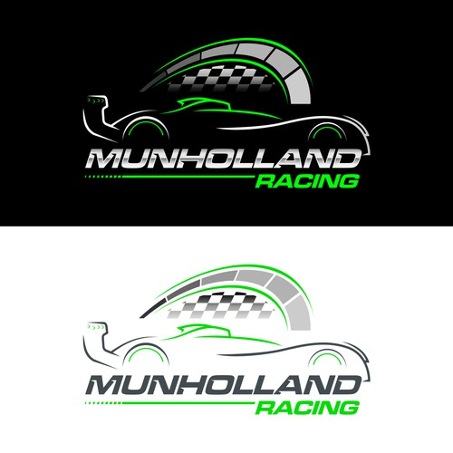 logo concept for munholland racing