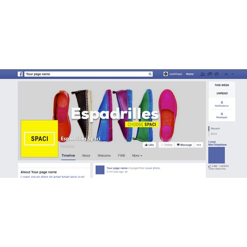 Facebook cover for Espadrilles Store