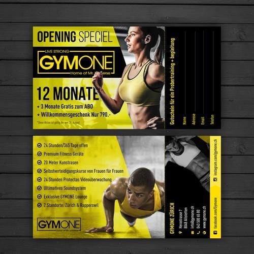 Flyer for GymOne