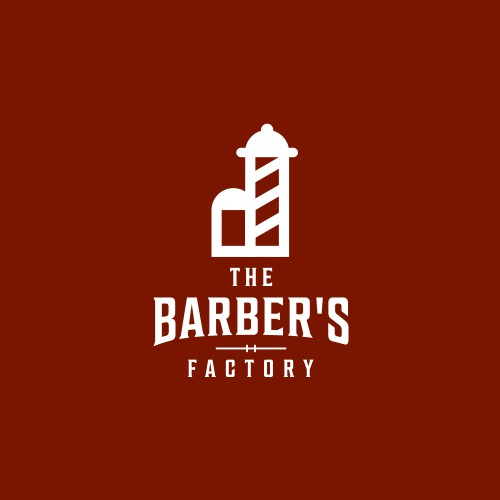 barbershop pole concept with house