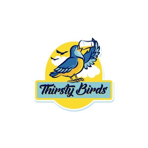 Illustrative Bird Logo for Beverage Company