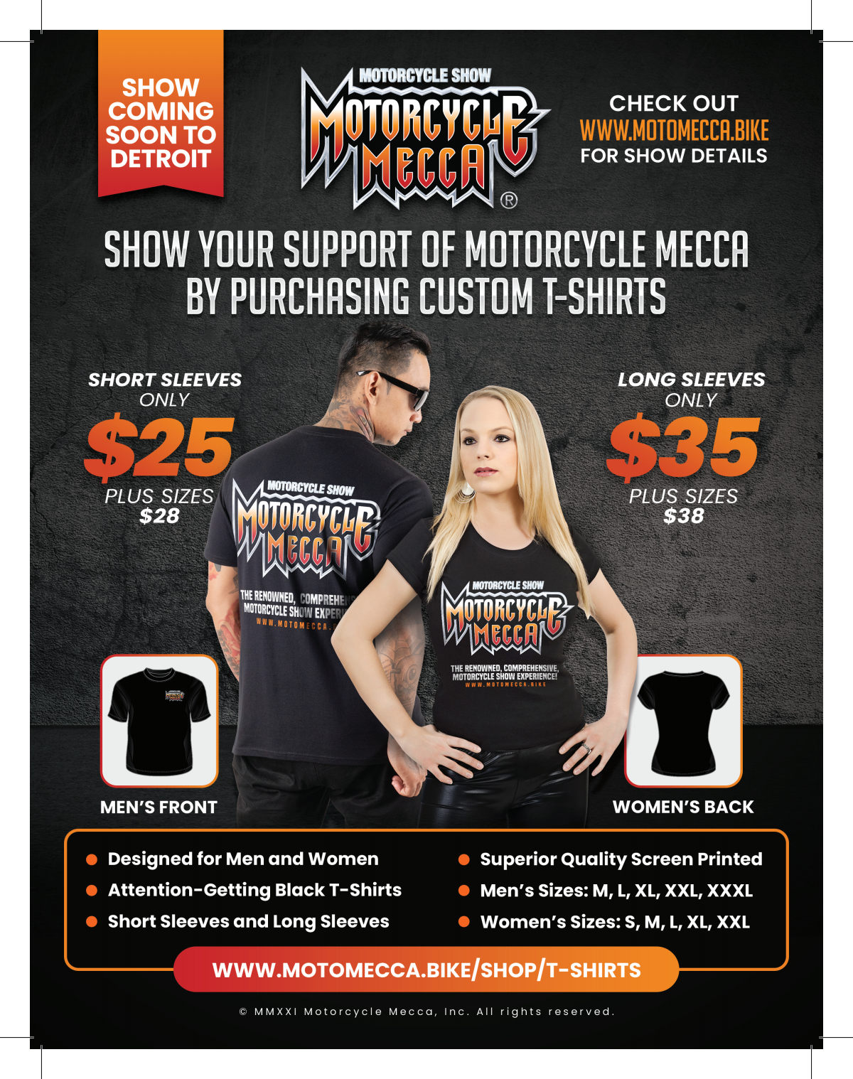 Motorcycle Mecca T-Shirt Ad.