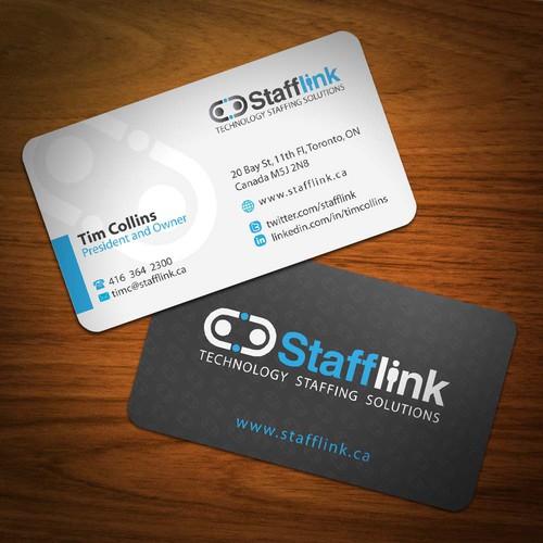 New business cards and presentation folder design for Stafflink