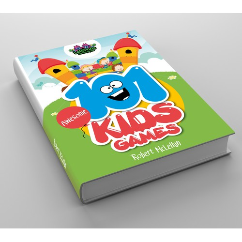"Book Cover ""101 Awesome Kids Games"" for Lollipops Kids Party Toy Hire"