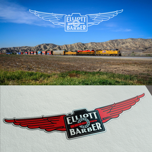 Logo and website for the rail related photos of Elliott Barber Photography