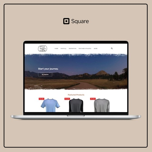 Online store for an outdoor brand