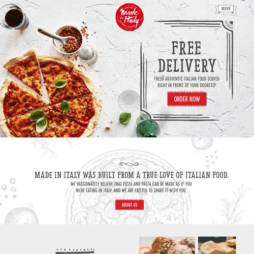 Web Design for an Italian Pizzeria