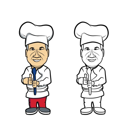 Caricature for a Cooking Logo