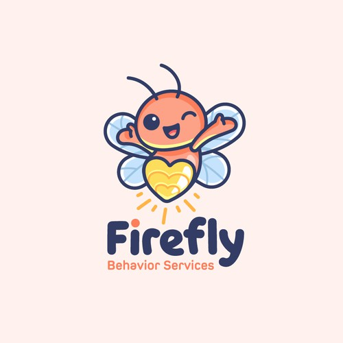 Mascot Logo for Firefly Behavior Services
