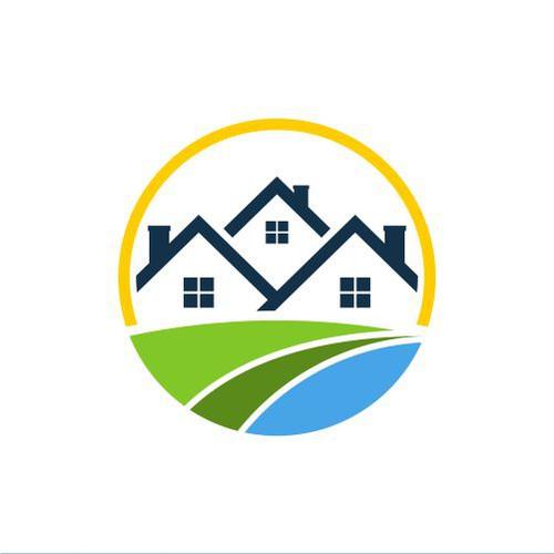 real estate logo circle