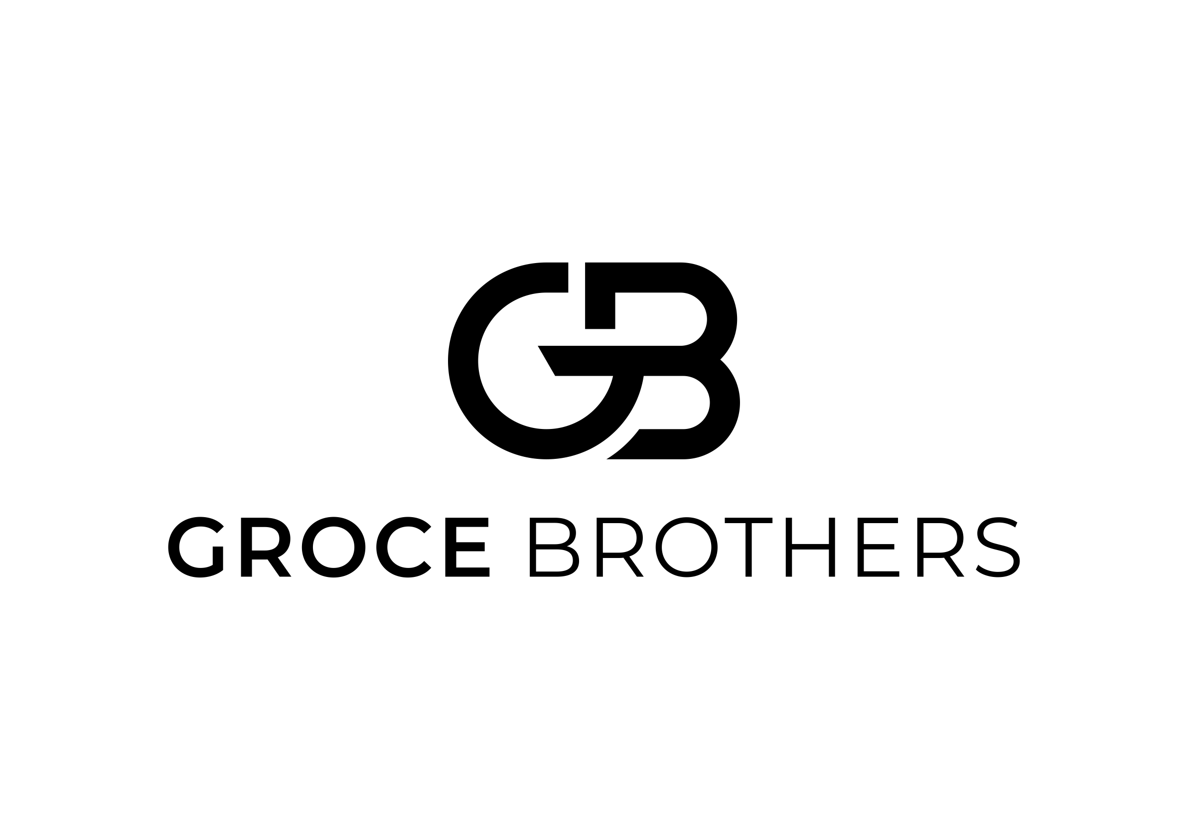 Design a sophisticated, elegant, warm logo for Groce Brothers.