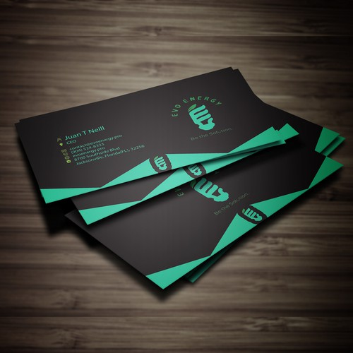 Back Business cards (we have logo already)