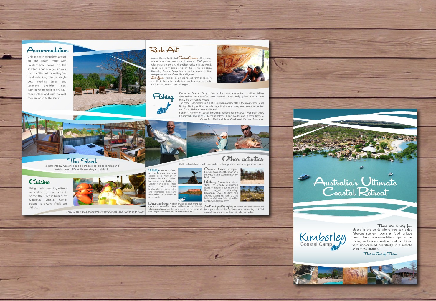 Kimberley Coastal Camp needs a new print or packaging design