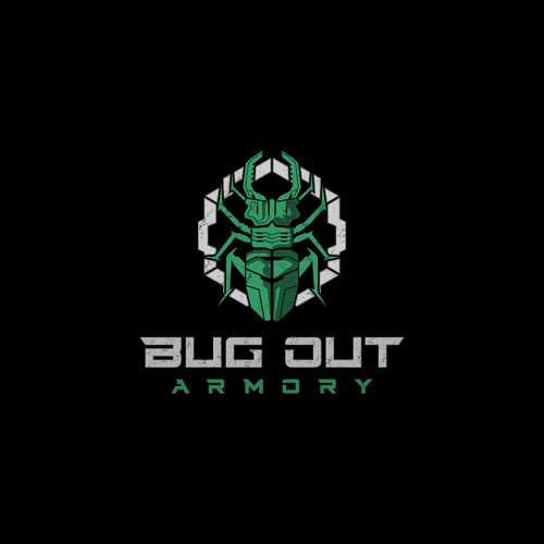 logo design for bug out armory