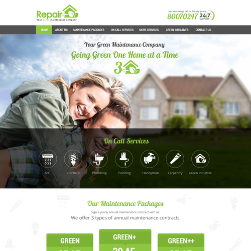 Website Design for Repair Plus (Repair+), A Green Maintenance Company