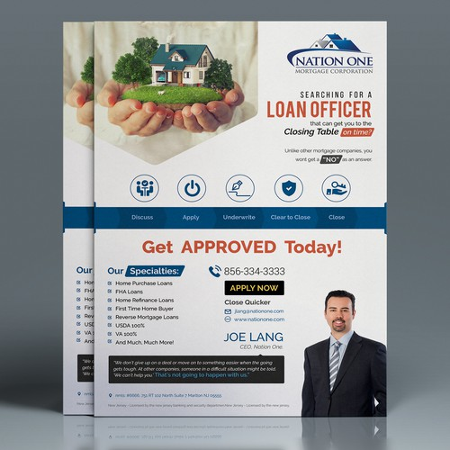 Nation One Mortgage Company Flyer