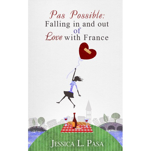 Design a book cover for a memoir about studying abroad in France
