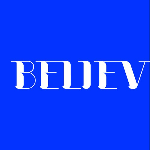 Custom typography: Believe
