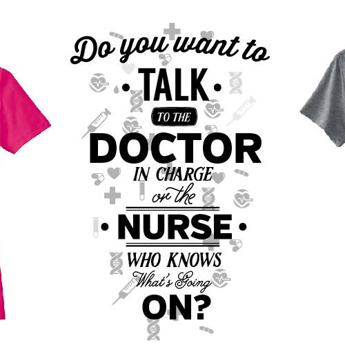 Typography shirt design for nurses
