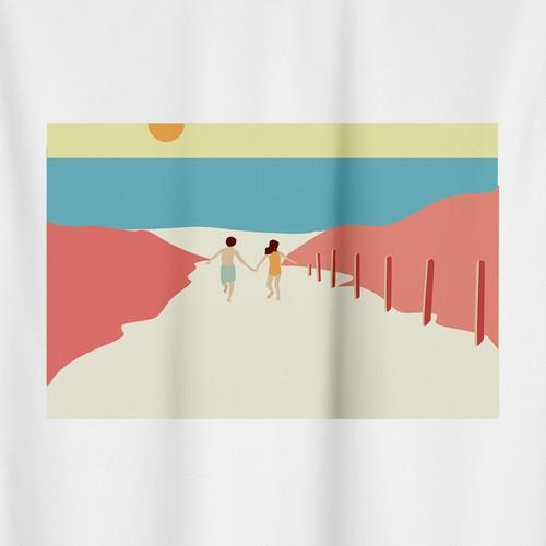 T-shirt for restaurant on the beach