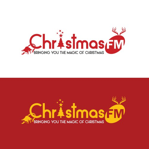 Creative Logo For A Christmas FM Channel