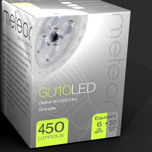 Packaging design for range of High Spec LED Lights