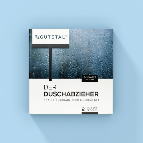 Clean Product Packaging Layout for a Shower Squeegee Set