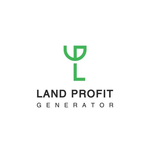 L+P+G Letter simple logo