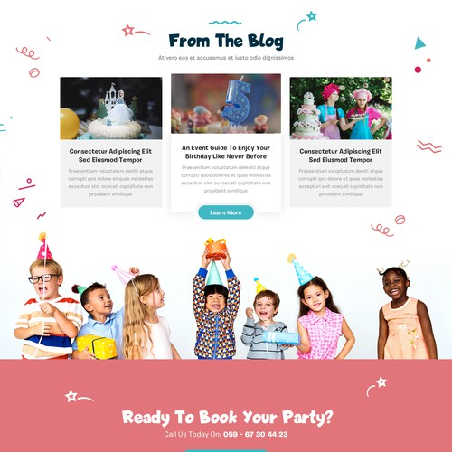 Event Agency for kids Website