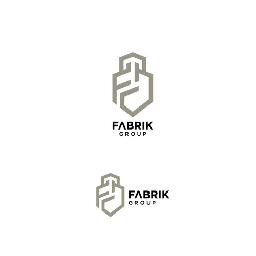 Simple and modern logo for construction company