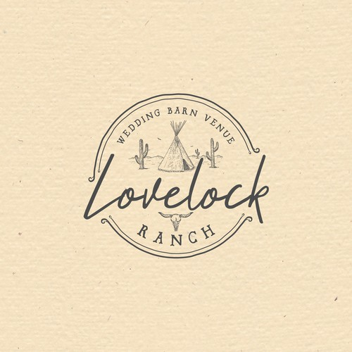 Western/boh logo for wedding barn