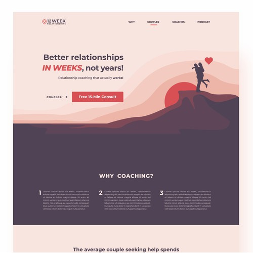 Landing Page Design for Better Relationships in Weeks, Not Years!